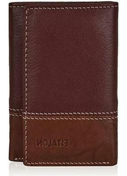 Real Leather Wallets for Men - RFID Blocking Slim, Cognac/To