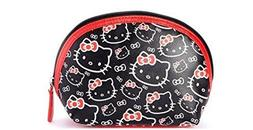 Hello Kitty Red and Black Cosmetic Bag