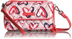 Vera Bradley RFID All in One Crossbody-Signature, Hearts Pin