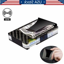 rfid blocking carbon fiber minimalist ridge money