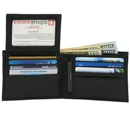rfid blocking leather bifold wallet