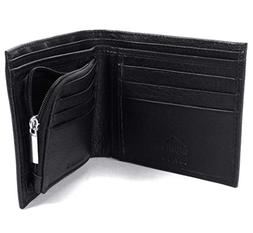 Alpine Swiss RFID Blocking Mens Leather Wallet Zipper Coin P