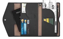 Travelambo Rfid Blocking Passport Holder Wallet & Travel Wal