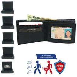 Belano RFID Blocking Real Leather Bifold Wallets for Cards I