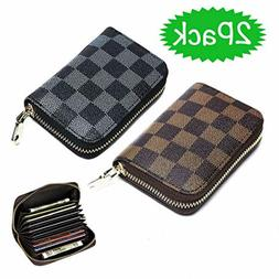 RFID Blocking Wallets for Women and Men Small Zipper Wallet