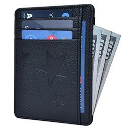 RFID Front Pocket Leather Wallet for Men - Blocking Genuine