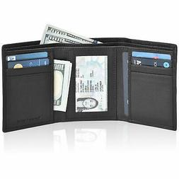 Estalon RFID Leather Trifold Wallets for Men - Handmade Slim