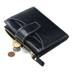 FT FUNTOR RFID Leather Wallet for women,Ladies Small Compact