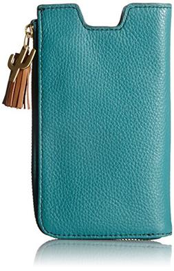 Fossil RFID Phone Slide Wallet, Teal Green