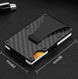 RFID Wallets for Men - Card Money Clip Carbon Fiber Minimali