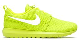 NIKE Men's Roshe NM Flyknit, Volt/White-Electric Green, 8 M