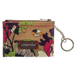 """*SALE* Sakroots ID Keychain Taupe """"Flower Power"""" Clutch Wall"""