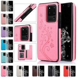 For Samsung Galaxy Note 10 Plus S20 S10S9S8S7 Magnetic Leath