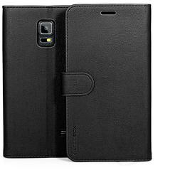 for Samsung Galaxy Note 4 Case Premium Leather Card Slot Wal