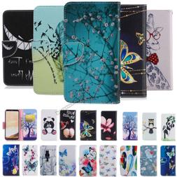 For Samsung Galaxy Note 5 S6 Note8 Wallet Flip Magnetic Patt