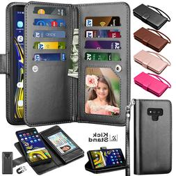 For Samsung Galaxy Note 20 9 8 10 Plus Card Leather Wallet H