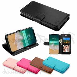 Samsung Galaxy S10 S10e S10 Plus Leather Flip Wallet Card Ca