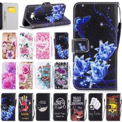 For Samsung Galaxy S9/S8/S7/S6/S5/Note8 Pattern Leather Wall