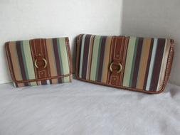 Set 2 New Vintage Women's Checkbook and Trifold ID Wallets S