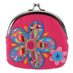 Stephen Joseph Signature Kiss Lock Purse, Flower
