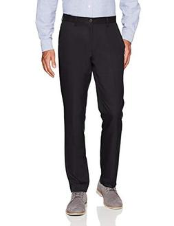 Amazon Essentials Men's Slim-Fit Flat-Front Dress Pants, Bla