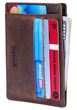 Kinzd Slim Front Pocket Wallet Card Holder Case Stylish Gift
