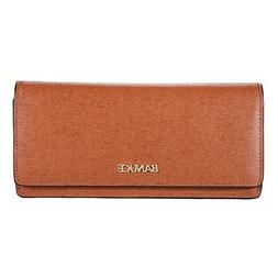Banuce Slim Genuine Leather Wallet for Women Retro Leather L