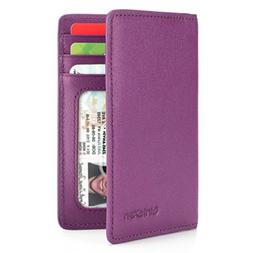 Slim Leather ID/Credit Card Holder Bifold Front Pocket Walle
