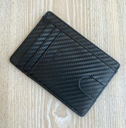 Buffway Slim Leather RFID safe Wallet For Men & Women