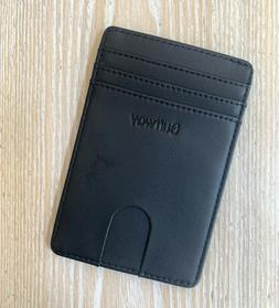 Buffway Slim Leather Wallet RFID protection: Boston Black