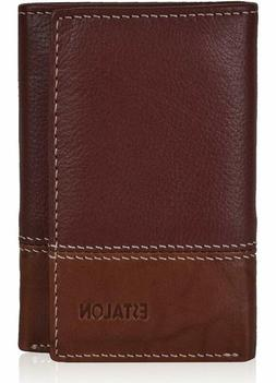 Slim Leather Wallets For Men – Front Pocket Tifold With Rf