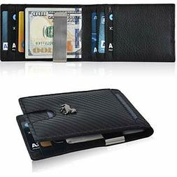 Slim Money Clip Wallets For Men–RFID Leather Bifold FrontP