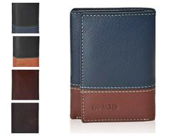Slim wallet mens leather wallet with RFID technology blockin