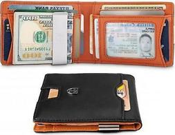Travando Slim Wallet With Money Clip Austin Rfid Blocking Ca