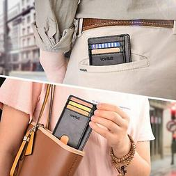 Buffway Slim Wallets for Men And Women Soft And Protects Car