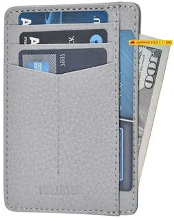 Slim Wallets For Men  Women With Rfid - Front Pocket Leather