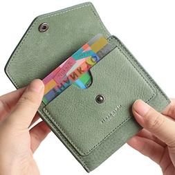Small Leather Wallet for Women, RFID Blocking Womens Credit