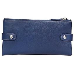 Banuce Soft Genuine Leather Bifold Wallet for Women Cell Pho