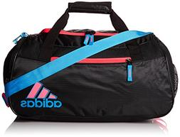 adidas Squad II Duffel, Black/Solar Blue/Flash Red Pink, One