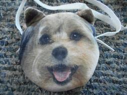 Terrier Dog Face Zip Top Coin Change Purse - Brand New!