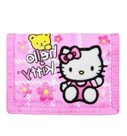 Trifold Wallet - Hello Kitty - w/ Bear Pink