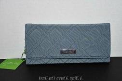 Vera Bradley Trifold Wallet in Charchoal #13966-541 NWT