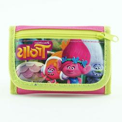 Trolls Wallet for Girls Kids Toddlers Poppy Trifold Photo ID