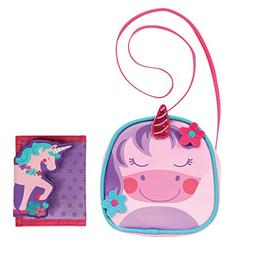 Stephen Joseph Girl Unicorn Crossbody Purse and Wallet Combo