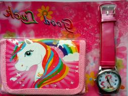 Unicorn Watch Digital watch Wallet for kids students watches