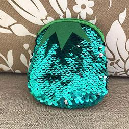 Longay Unisex Girls Fashion Double Color Sequins Bag Coin Wa
