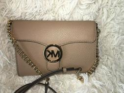 Michael Kors Vanna Pebble Leather Phone Crossbody Wallet Bag
