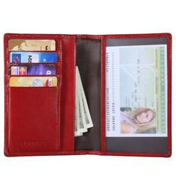 vintage full grain leather ca passport holder