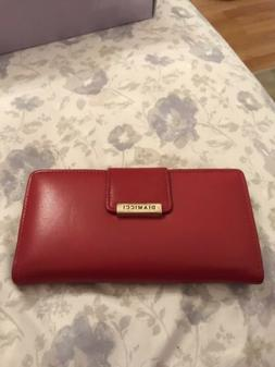 Diamicci Vintage Genuine Leather Wallet with Checkbook & Pen