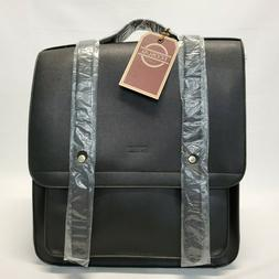 vintage style leather backpack w matching wallet